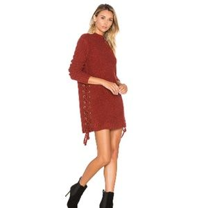Lovers & Friends Rust Sweater Dress - Brand New
